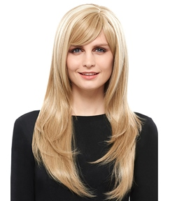 COSCOSS® Elegant Long Straight Capless Blonde 26 Inches Synthetic Hair Wig