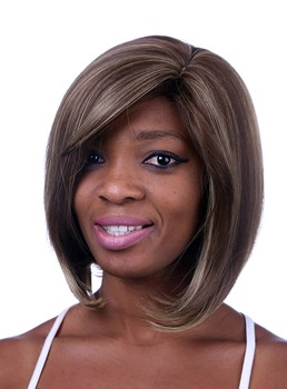 COSCOSS® Medium Straight Lob Hairstyle Capless Synthetic Hair Wig 12 Inches