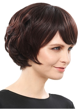 COSCOSS® Delicate Short Straight Synthetic Hair Capless 8 Inches Bob Wig