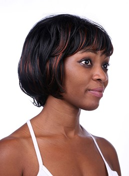 COSCOSS® Sweety Short Wavy Capless Synthetic Hair Wig 10 Inches