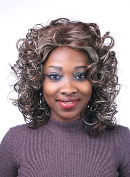 COSCOSS® Attractive Medium Curly Capless Synthetic Hair Wig 14 Inches