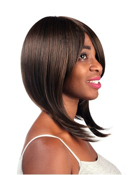 COSCOSS® Graceful Medium Straight Capless Synthetic Hair Wig 14 Inches