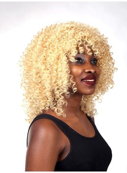 Medium Curly Lace Front Synthetic Hair Wigs