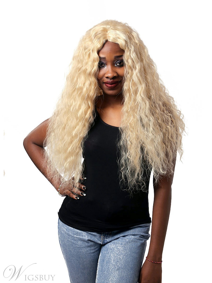 Deep Wave Synthetic Hair Capless Wig 30 Inches