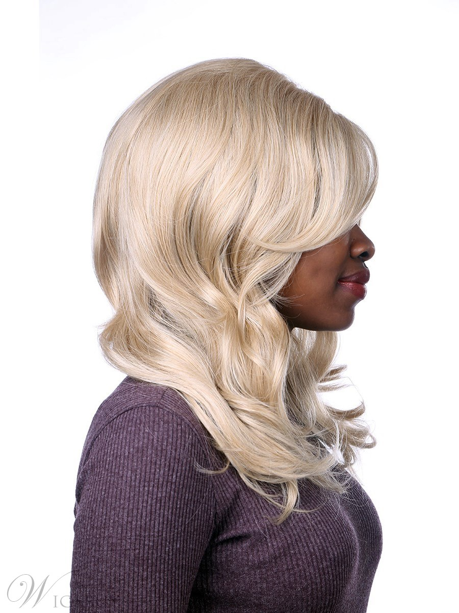 One Side Parting Synthetic Wavy Hair Capless Wig 20 Inches