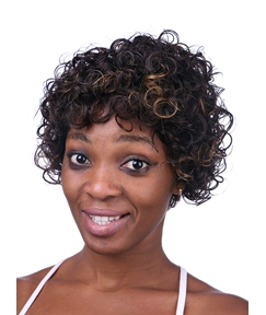 COSCOSS® Hot Sale Medium Kinky Curly Capless Synthetic Hair Wig 12 Inches