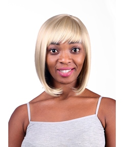 COSCOSS® Bob Hairstyle Medium Straight Capless Synthetic Hair Wig 12 Inches