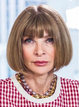 Anna Wintour Short BOB Straight Human Hair Capless Wigs for Older Women