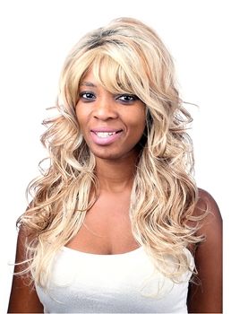COSCOSS® Long Loose Wave Capless Synthetic Hair Wig 24 Inches