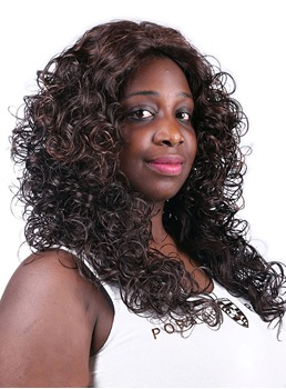 COSCOSS® Hot Long Curly Capless Synthetic Hair Wig 24 Inches