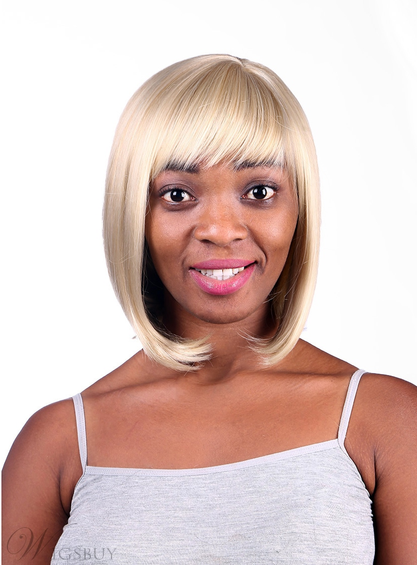 COSCOSS® Bob Hairstyle Medium Straight Capless Synthetic Hair Wig 12 Inches 12157088