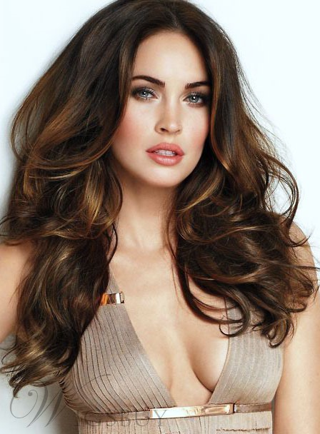 Sexy Wavy Long High Qualtiy Human Hair Lace Front Cap Wig 24 Inches