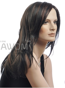 NAWOMI® Long Straight Mixed Color Synthetic Hair Capless 22 Inches Wig