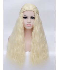 Cosplay Style Synthetic Wavy Hair With Braid Capless Wig 28 Inches