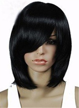 Fashion Medium Straight Capless 12 Synthetic Hair Wig