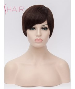 Short Cut Hairstyle Synthetic Hair Straight Capless Wig
