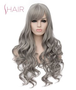 Cosplay Style Long Synthetic Wavy Hair Capless Women Wig