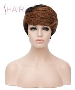 Short Wig Synthetic Straight Hair Capless Wig