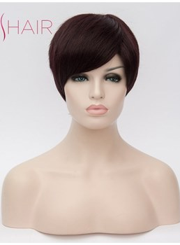 Short Layered Straight Capless Synthetic Wig