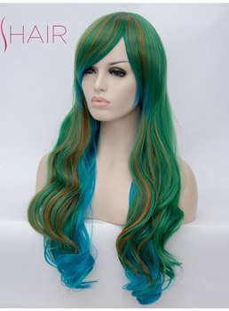 Cheap Long Wavy Synthetic Hair Capless Women Wig 28 Inches