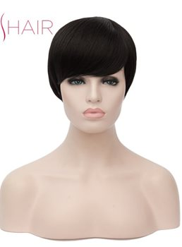 Clearance Sale Short Cut Synthetic Hair Straight Capless Women Wig 12 Inches