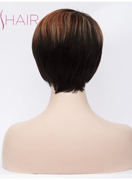 Pixie Hairstyle Short Synthetic Straight Hair Capless Wig