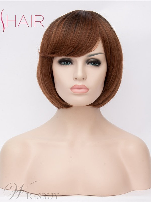 Bob Short Wig Synthetic Straight Hair Capless Wig