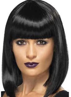 New Arrival Medium Straight Lob Capless Synthetic Hair Wig 14 Inches
