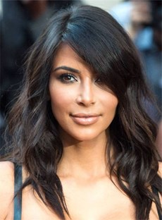 Kim Kardasian Long Loose Wave Capless Human Hair Wig 18 Inches