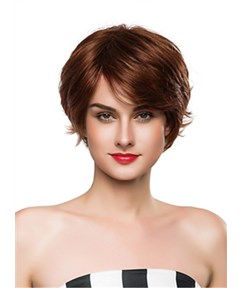 Mishair® Short Bottom Wave Capless Human Hair Wig 10 Inches