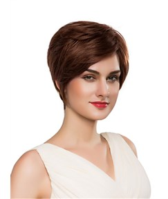 Mishair® Cute Short Straight Capless Human Hair Wig 10 Inches