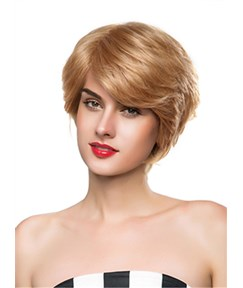 Mishair® Attractive Short Wavy Capless Human Hair Wig 10 Inches