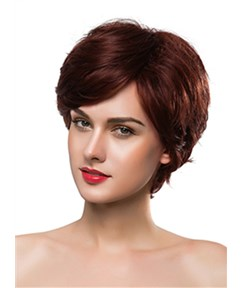 Mishair® Elegant Short Wavy Capless Human Hair Wig 10 Inches