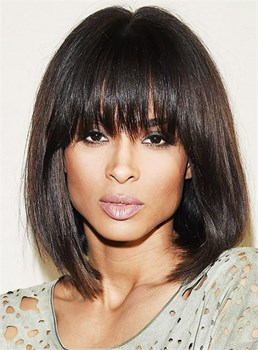 Ciara Medium Straight Capless Human Hair Wigs 14 Inches