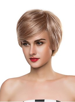 Mishair® Elegant Short Straight Capless Human Hair Wig 10 Inches