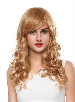 Mishair® Long Attractive Wavy Capless Human Hair Wig 22 Inches