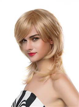 Mishair® Beautiful Long Wavy Capless Human Hair Wig 18 Inches