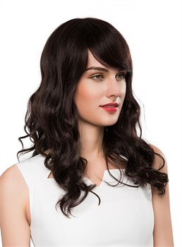 Mishair® New Charming Long Wavy Capless Human Hair Wig 22 Inches