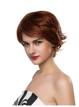 Mishair® Fluffy Short Wavy Capless Human Hair Wig 10 Inches