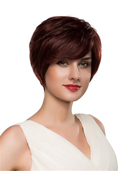 Mishair® Layered Short Straight Capless Human Hair Wig 10 Inches