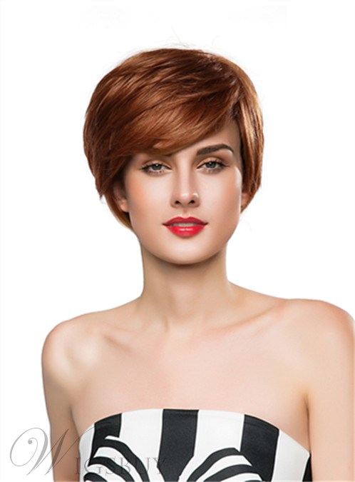 Mishair® New Style Short Straight Capless Human Hair Wig 10 Inches 12248908