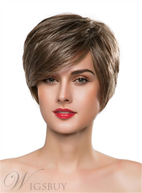 Mishair? Short Straight Capless Human Hair Wig 10 Inches 12247313