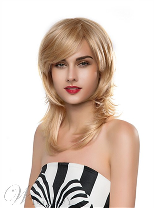 Mishair® Beautiful Long Wavy Capless Human Hair Wig 18 Inches 12250629