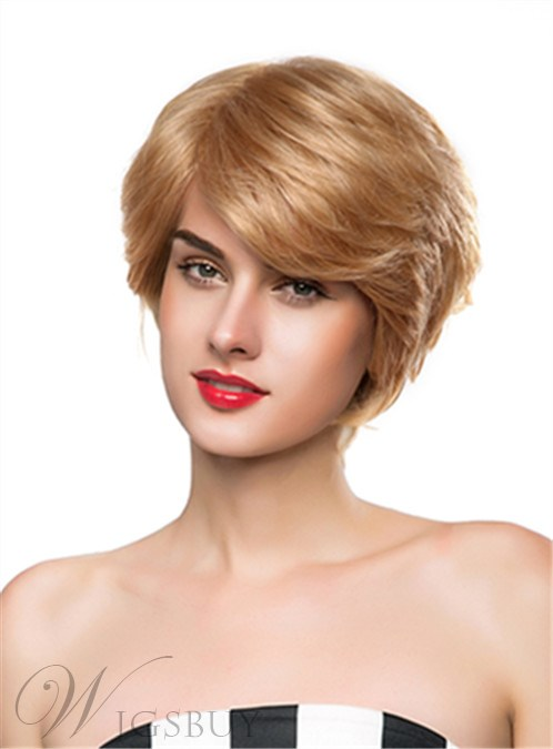 Mishair? Attractive Short Wavy Capless Human Hair Wig 10 Inches 12247399