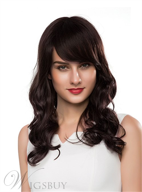 Mishair® New Charming Long Wavy Capless Human Hair Wig 22 Inches 12250671