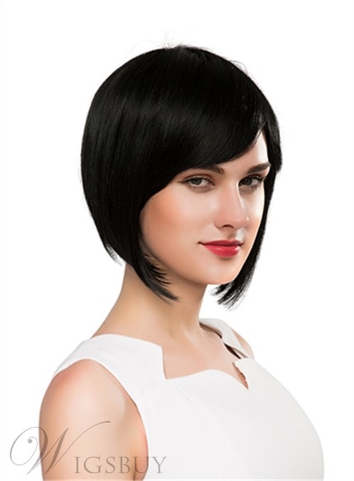 Mishair® Pretty Medium Straight Capless Human Hair Wig 10 Inches 12250628