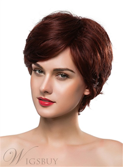 Mishair® Elegant Short Wavy Capless Human Hair Wig 10 Inches 12247314