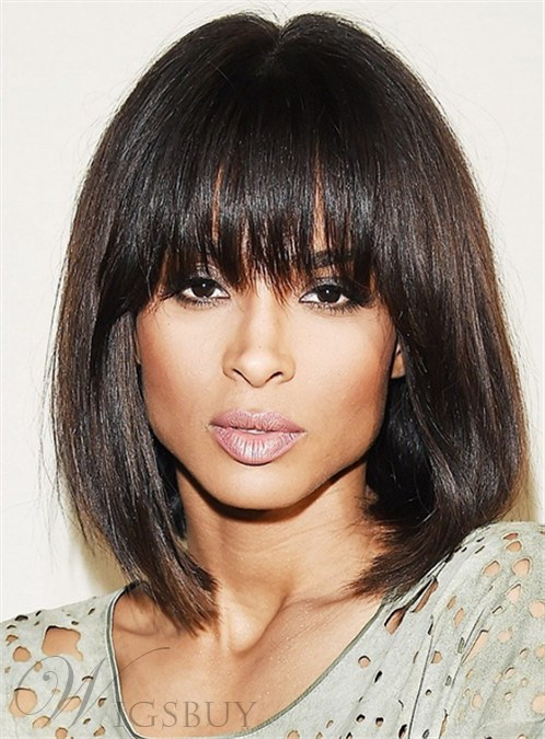 Ciara Medium Straight Capless Human Hair Wigs 14 Inches M Wigsbuy Com