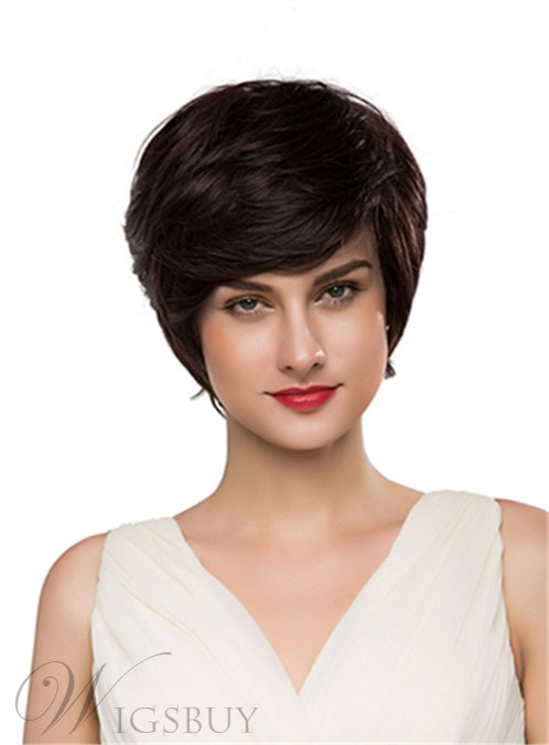 hair styles for hair with bangs mishair 174 wavy bangs capless human hair wig 10 1211