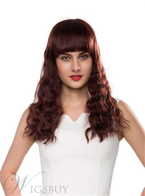 Mishair® Beautiful Long Wavy Capless Human Hair Wig 22 Inches 12255653